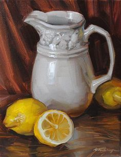"""Lemon Rhapsody"" original fine art by Elena Katsyura Still Life Drawing, Painting Still Life, Still Life Art, Monochromatic Art, Fruit Art, Day Lilies, Fine Art Gallery, Beautiful Artwork, Watercolor Art"