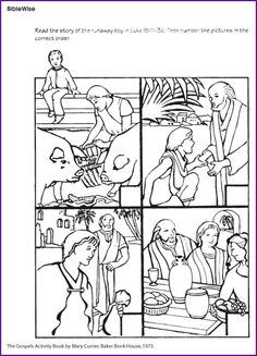 prodigal son sequence coloring | new testament bible crafts ...