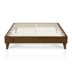 Modern California King Size Platform Bed Frame  Solid Wood Design  Made in US  Easy Assembly Walnut -- To view further for this item, visit the image link.