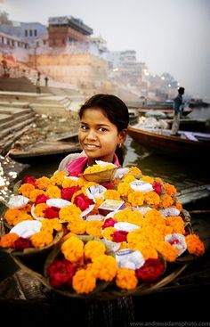 Ofrendas en Varanasi , India