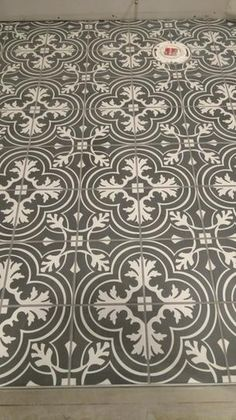 Merola Tile Twenties Classic in. Ceramic Floor and Wall Tile at The Home Depot - Mobile click the link now for more info. Modern Flooring, Flooring Ideas, Terrazo, Buy Tile, Painted Floors, Cement Floors, Cement Tiles, Stenciled Floor, Encaustic Tile
