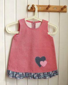 SALE    Free Shipping  pink sarafan  hearts  pink  by ninaByou