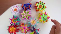 Folded Paper Stars for Kids with Babble Dabble Do