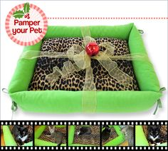 Comfy Pet Bed with Bolster Sides | Sew4Home