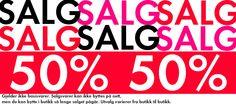 SALG! 50% på baby- og barneklær!