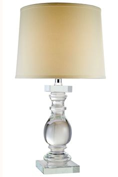 """Regina Table Lamp D:16"""" H:28"""" Lt:1 Chrome Finish. Our Regina lamps preserve the brilliance of light in an obelisk of pristine crystal. This collection marries contemporary glamor and minimalism into classic shapes.Specifications:   Dimensions 16"""" W x 28"""" H   Finish Chrome    Crystal Color  Crystal (Clear)    Chain/Wire Included  6 ft.    Light Bulbs  1    Bulb Type  E26    Bulb Wattage  40    Max Wattage  40    Voltage  110V-125V    Hanging Weight  25"""