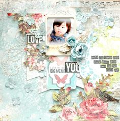 Happy smile♪: My Creative Scrapbook Kit June Scrapbook Journal, Scrapbook Pages, Smash Book Pages, Scrapbook Patterns, Image Layout, Layout Inspiration, Happy Smile, Scrapbooking Layouts, Paper Crafts