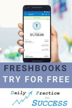 Want to save time on accounting and invoicing? Try out Freshbooks easy invoicing and cloud based accounting.  Read my review at www.dailypracticeforsuccess.com or Get your free trial now! Marketing Tools, Internet Marketing, Business Tips, Online Business, Search Engine Marketing, Cloud Based, Earn Money Online, Growing Your Business, Affiliate Marketing