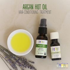 Summer can take a toll on your hair with chlorine, sun, sweat and more. Revive it with this recipe for an argan hot oil hair conditioning treatment. #carrieroil