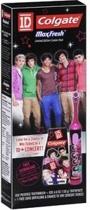 $5.97 Walmart Colgate One Direction MaxFresh Toothbrush & Toothpaste Combo Pack