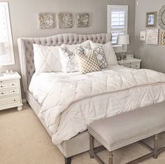 6 Attractive Clever Tips: Bedroom Remodel Ideas Master small attic bedroom remodel.Mobile Home Master Bedroom Remodel bedroom remodel on a budget hardwood floors. Master Bedroom Makeover, Master Bedroom Design, Dream Bedroom, Home Bedroom, Bedroom Decor, Bedroom Ideas, Tan Bedroom, Bedroom Closets, Basement Bedrooms