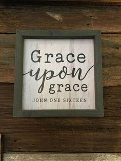 Frame Sign-Grace Upon Grace