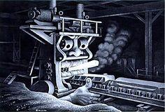Boris Artzybasheff - steel mill