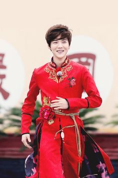 prince luhan in red