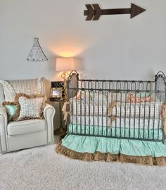 Tan Plaid Crib Bedding for Boy, Orange & Grey Arrowheads Crib Bedding, Ivory with Gold Arrows Crib Set, Mint Aztec and Burlap Crib Bedding, Crib Bedding Boy, King Bedding Sets, Dorm Bedding, King Comforter, Comforter Sets, Toddler Pillow, Toddler Bed, Tribal Bedding, Orange Bedding