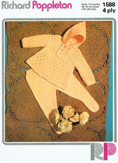 Items similar to Baby Hooded Angel Top and Tights in yarn for age 0 - 24 ins - Rp 1588 - PDF of Vintage Knitting Patterns on Etsy Knitting Terms, Baby Knitting Patterns, Baby Patterns, Doll Patterns, Crochet Patterns, Moss Stitch, Seed Stitch, Knitted Dolls, Knitted Baby