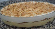 Ingredientes: 5 ovos 1 lata de leite condensado 1 lata de leite 1 pacote de bolacha maria Café adoçado q.b. 4 colheres de sopa de a...