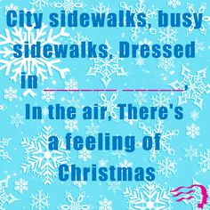 Do you know the missing words to this classic #Christmas carol? Fill in the blanks!
