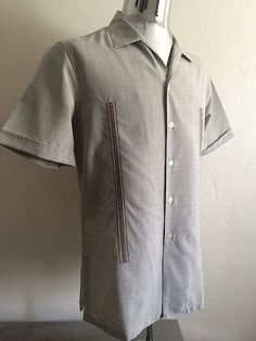 Vintage Apparel Men's 80's Shirt Tan Button Up by Freshandswanky, $20.00