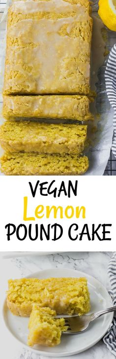 Flavorful Vegan Lemon Pound Cake is moist and buttery with a refreshing taste of lemon. #vegan #glutenfree