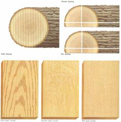 examples of quarter sawn vs. rift sawn white oak - Google Search