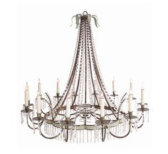David Iatesta Scalloped Tole Chandelier