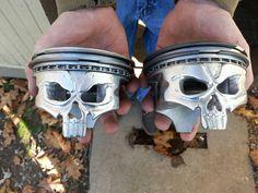 Skull Pistons from Morgan's Garage