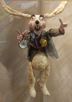 White Rabbit from Alan Cook International Puppetry Museum in Pasadena, CA
