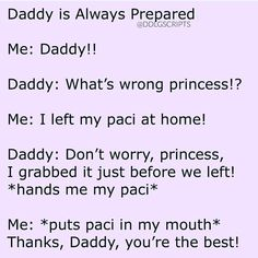 i wish i had a paci🍼 ♡ ♡ ♡ ♡ ♡ ♡ ♡ ♡ ♡ ♡ ♡ Daddys Girl Quotes, Daddy's Little Girl Quotes, Happy Girl Quotes, Little Memes, Little Things Quotes, Daddys Little Princess, Daddys Little Girls, Cute Relationship Texts, Cute Relationships