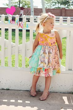 Mia's Reverse Knot Twirly Dress PDF Pattern by CreateKidsCouture, $12.00