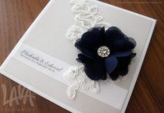 Hardcover wedding invitation by www.lavastationery.com.au
