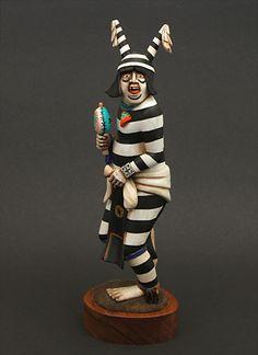 Clown Kachina Doll by Wilmer Kaye (Hopi)