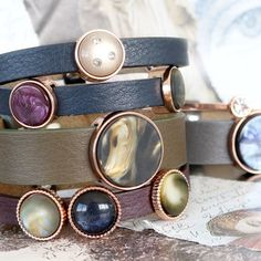 Machen Sie Ihren eigenen Schmuck mit diesen Cuoio Armbändern in prachtvollen Farben!