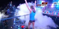 WATCH: Gymnast Absolutely Crushes 'American Ninja Warrior' Obstacle Course - the first woman to ever complete it this difficult obstacle course and she made it look easy