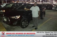 #HappyAnniversary to Christopher Johnson on your 2013 #Mitsubishi #Outlander Sport from Elijah Riess at Absolute Hyundai!
