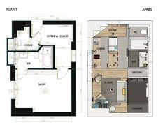 sous les toits : transformation d'un studio en 2 pièces | models ... - Transformer Son Garage En Studio