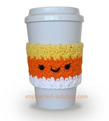Ravelry: Candy Corn Coffee Cup Cozy pattern by The Enchanted Ladybug
