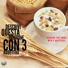 Descrivi questa immagine con 3 aggettivi Italian Memes, Learning Italian, 3, Make It Simple, Breakfast, Easy, Food, Morning Coffee, Learn Italian Language