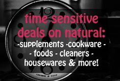 Cyber Monday Discounts on Natural Products