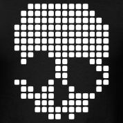 Retro Pixel Skull Dots Design