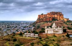 Jodhpur is called the blue city of Rajasthan because of the brahmin blue rooftops that can be seen from its majestic fort. The Mehrangarh Fort was built in 1459 and now houses some of the India's finest museums.