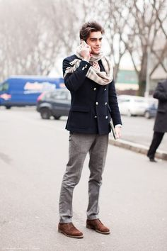 How To Wear Grey Dress Pants With a Navy Double Breasted Blazer For Men looks & outfits) Fashion Moda, Look Fashion, Fashion Photo, Winter Fashion, Mens Fashion, Fashion Trends, Fashion Tips, Fashion Hacks, Fashion Updates