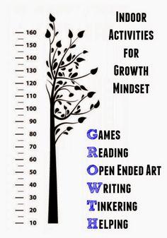 Indoor Activities to Nurture Growth Mindset