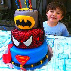 Superhero cakes.
