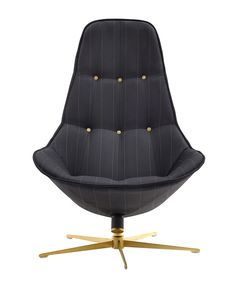 The Boston chair from BoConcept, in a gray stripe.