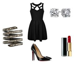 Evening Event by slizausaba on Polyvore featuring Christian Louboutin, Lynn Ban and Blue Nile