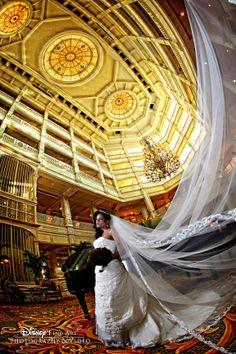 Disney's Grand Floridian in all of its elegance and grandeur #Disney #wedding Beautiful shot!