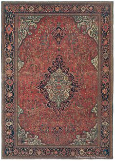 FERAHAN SAROUK - West Central Persian 8ft 6in x 12ft 2in Late 19th Century http://www.claremontrug.com/antique-oriental-rugs-carpets/antique-rugs-FERAHAN+SAROUK+-+West+Central+Persian-1186