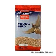 Bucktons Young Bird Pigeon Feed 20kg Bucktons Young Bird contains no maize making it much easier for young birds to digest A good balance of protein and carbohdrates ensures a balanced growth allowing young birds to develop correctly over time.