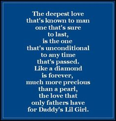 I love my daddy more than anything in this world! & I know he loves me just as much!! I will always be daddy's little girl no matter how old I get!
